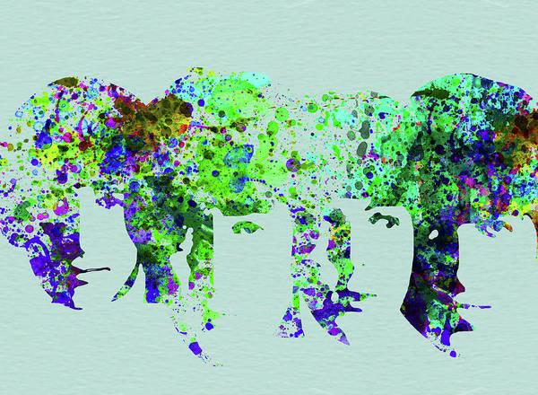 Beatles Poster featuring the mixed media Legendary Beetles Watercolor II by Naxart Studio