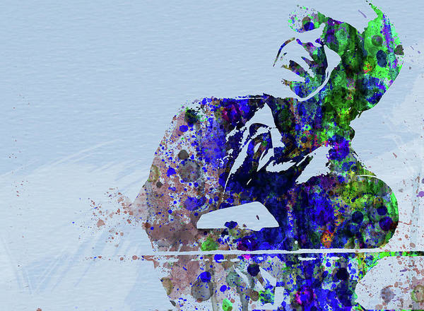 Ray Charles Poster featuring the mixed media Legendary Ray Charles Watercolor by Naxart Studio