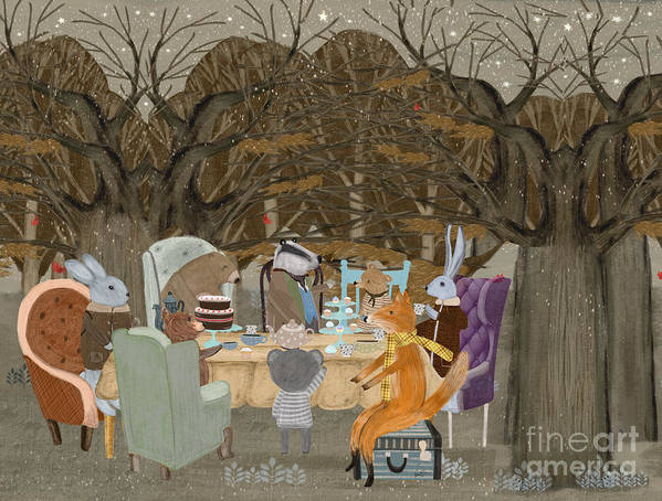 English Tea Party Poster featuring the painting Little Tea Party by Bri Buckley