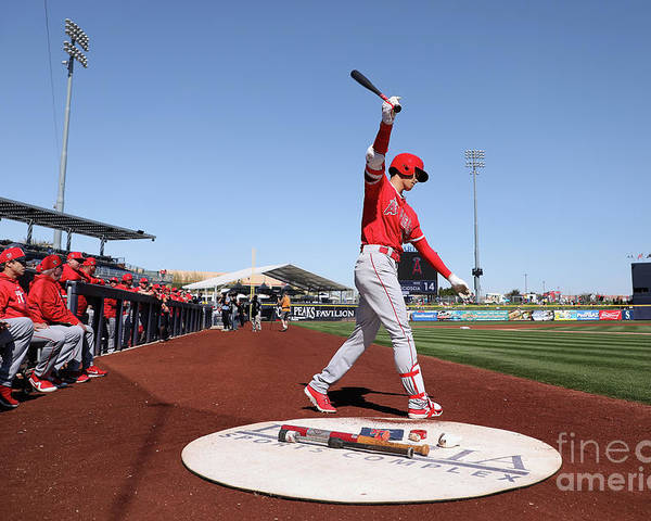 Peoria Sports Complex Poster featuring the photograph Los Angeles Angels Of Anaheim V San by Christian Petersen