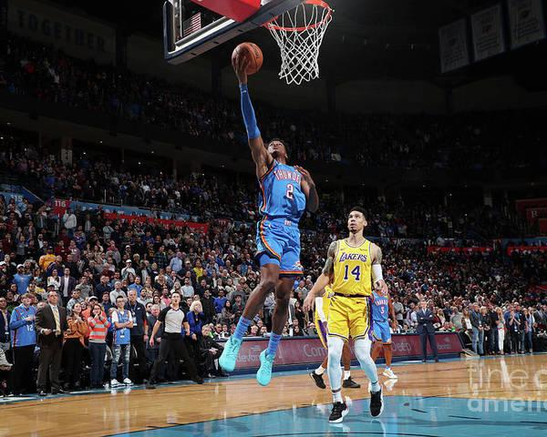 Nba Pro Basketball Poster featuring the photograph Los Angeles Lakers V Oklahoma City by Joe Murphy