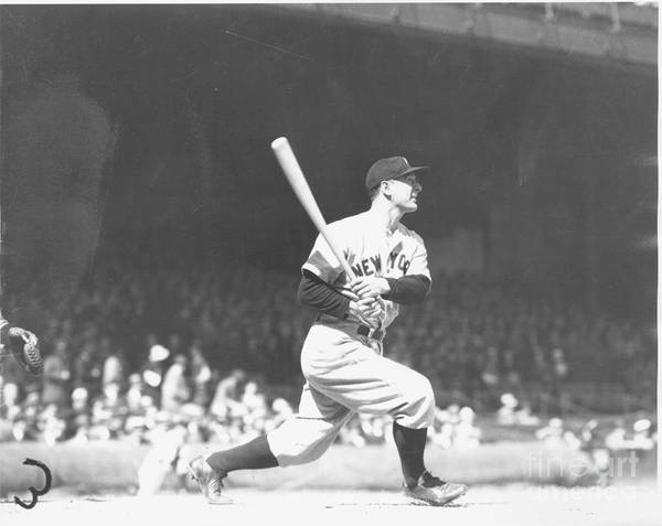 People Poster featuring the photograph Lou Gehrig by Louis Van Oeyen/ Wrhs