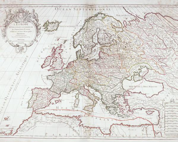 Map Of Europe Poster By Fototeca Gilardi