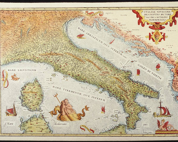 Italy Map 1500.Map Of Italy In 1500 Poster By Fototeca Gilardi