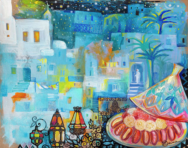 Maroco Poster featuring the painting Maroco by Oxana Zaika