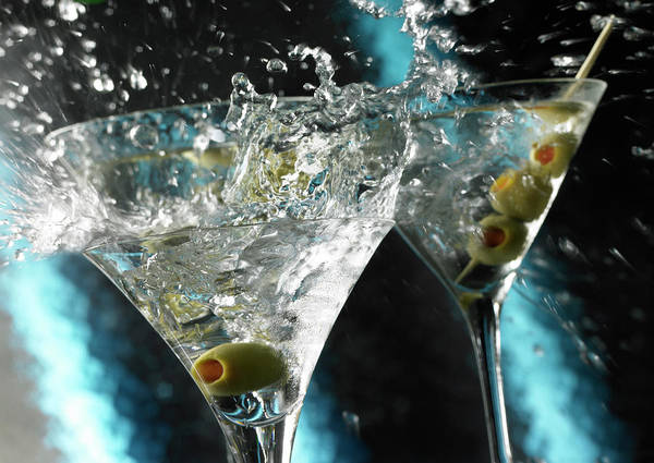 Alcohol Poster featuring the photograph Martini Wild Splash by Triton21