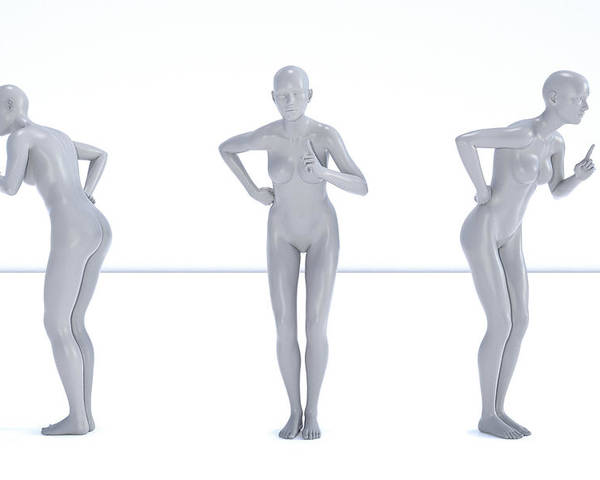 Human Poster featuring the digital art Models 001 by Betsy Knapp