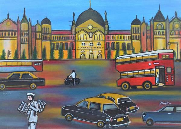 Mumbai Poster featuring the painting Mumbai Meri Jaan II by Manjiri Kanvinde