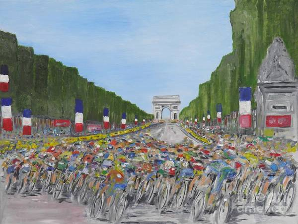 Tour De France Poster featuring the painting Nearly There by Chris O'Reilly