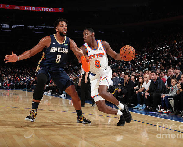 Nba Pro Basketball Poster featuring the photograph New Orleans Pelicans V New York Knicks by Nathaniel S. Butler