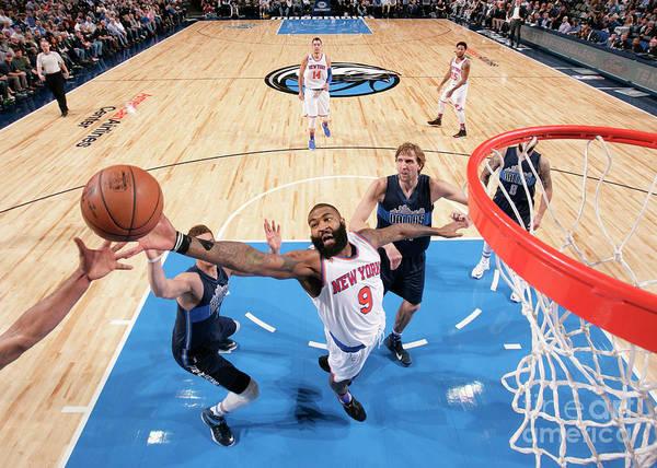 Nba Pro Basketball Poster featuring the photograph New York Knicks V Dallas Mavericks by Glenn James