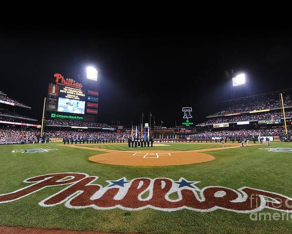 Playoffs Poster featuring the photograph Nlcs Game 1 Los Angeles Dodgers V by Philadelphia Phillies