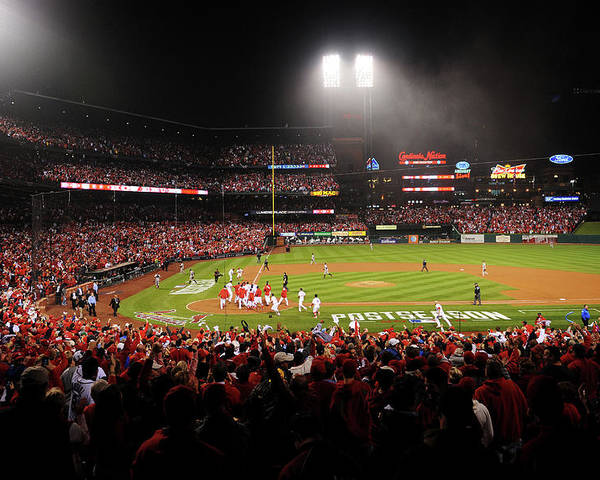 St. Louis Cardinals Poster featuring the photograph Nlcs - San Francisco Giants V St Louis by Michael Thomas