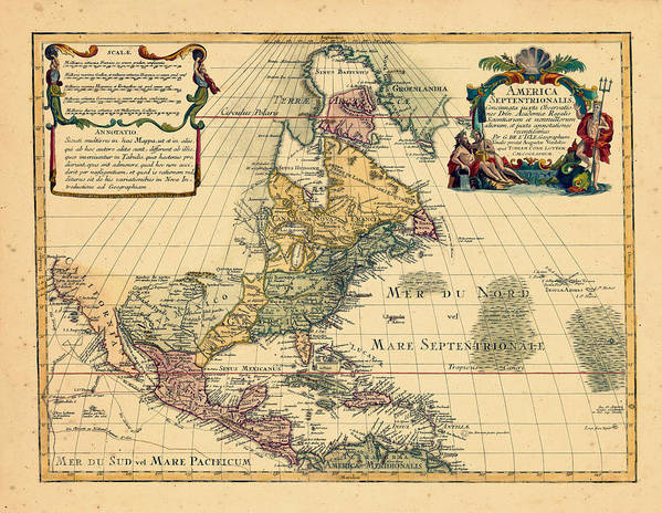 North America, 1762 Poster