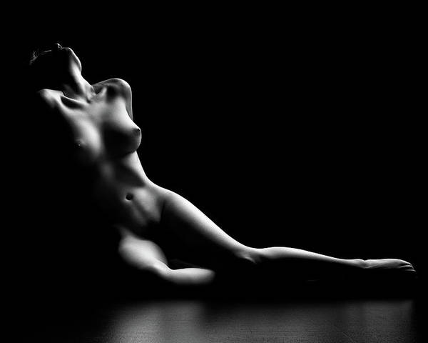 Woman Poster featuring the photograph Nude Woman Bodyscape by Johan Swanepoel