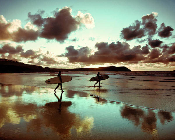 Water's Edge Poster featuring the photograph Old Skool Surf by Landscapes, Seascapes, Jewellery & Action Photographer