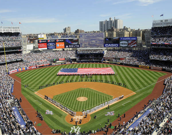 American League Baseball Poster featuring the photograph Opening Day Yankee Stadium. New York by New York Daily News Archive