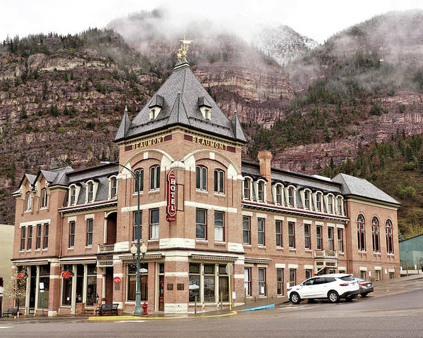 Building Poster featuring the photograph Ouray Colorado - Architecture - Hotel by John Trommer