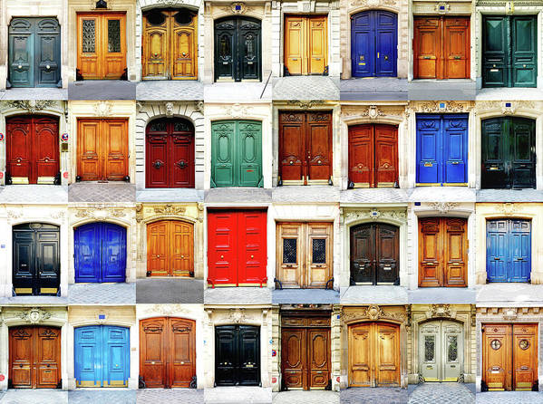 Arch Poster featuring the photograph Paris Doors by Maica