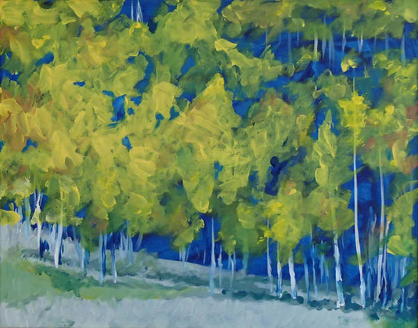 Forest Poster featuring the painting Park City Forest by Philip Fleischer