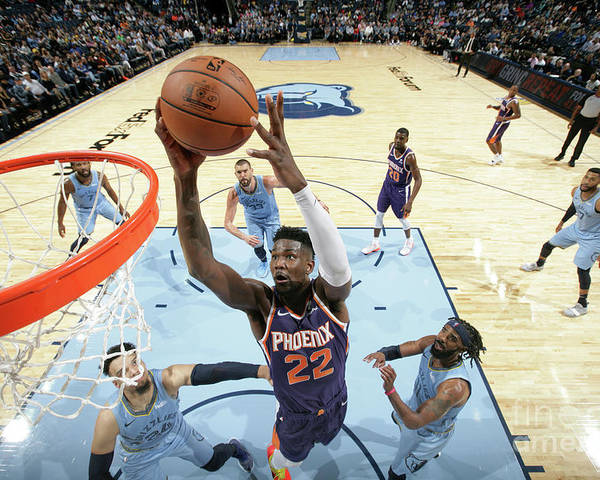 Nba Pro Basketball Poster featuring the photograph Phoenix Suns V Memphis Grizzlies by Ned Dishman