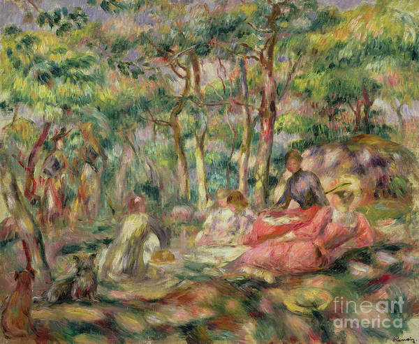 Picnic Poster featuring the painting Picnic, Circa 1893 by Pierre Auguste Renoir