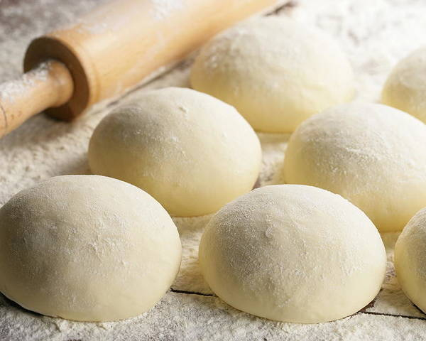 Rolling Pin Poster featuring the photograph Pizza Doughs by Foodad / Multi-bits