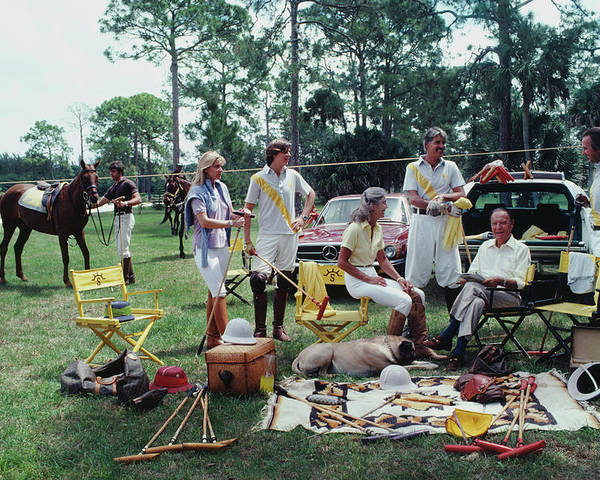 Horse Poster featuring the photograph Polo Party by Slim Aarons