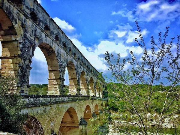 Europe Poster featuring the digital art Pont Du Gard by Scott Waters