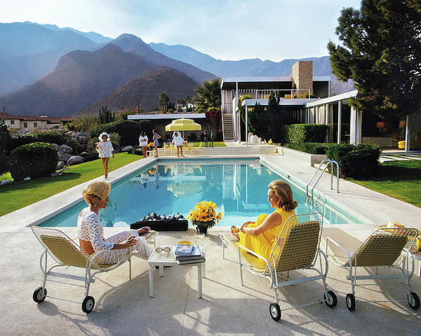 People Poster featuring the photograph Poolside Glamour by Slim Aarons