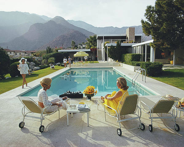 Swimming Pool Poster featuring the photograph Poolside Gossip by Slim Aarons