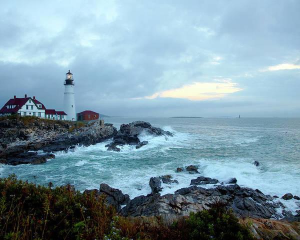 Beautiful 10x8 In Photo-Print Portland Head Lighthouse