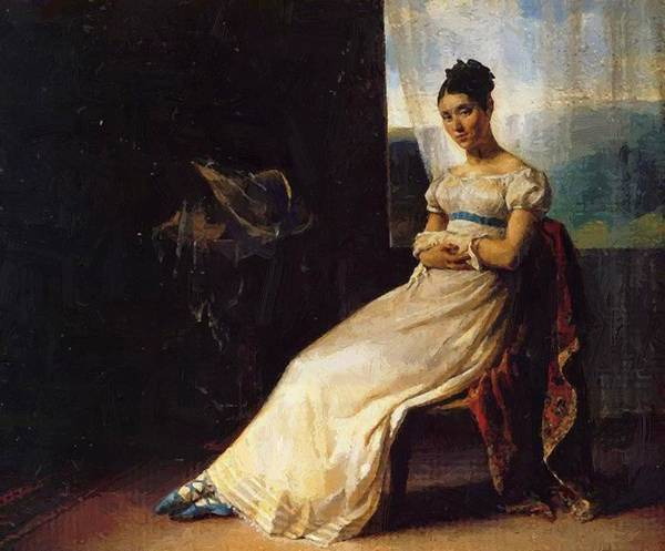 Portrait Poster featuring the painting Portrait Of Laura Bro 1820 by Gericault Theodore