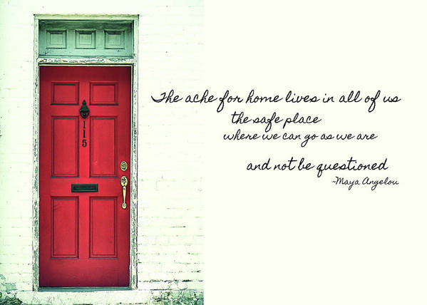 5837a2090f0a Red Poster featuring the photograph Red Door Quote by JAMART Photography