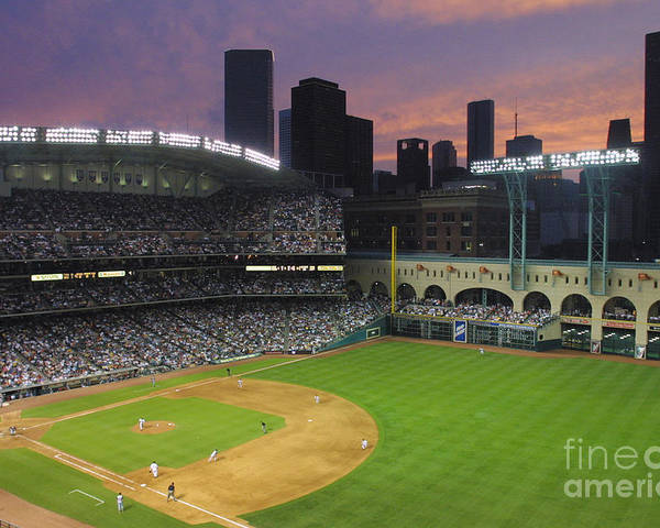 Minute Maid Park Poster featuring the photograph Reds V Astros X by Ronald Martinez