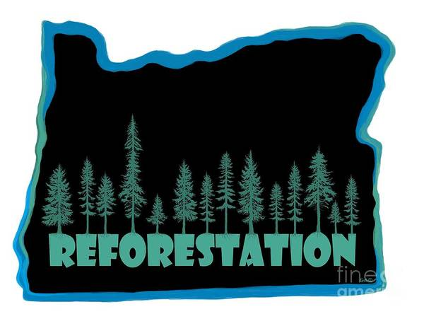 Reforestation Poster featuring the digital art Reforestation by Nick Gustafson