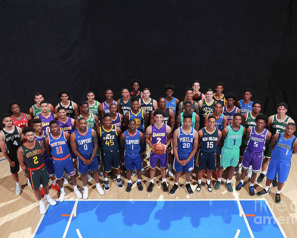 Nba Pro Basketball Poster featuring the photograph Rookie Photo Shoot 2017 by Joe Murphy