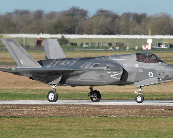 Horizontal Poster featuring the photograph Royal Air Force F-35b At Raf Marham by Simone Marcato