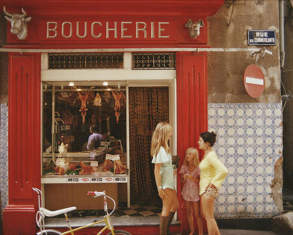 Child Poster featuring the photograph Saint-tropez Boucherie by Slim Aarons