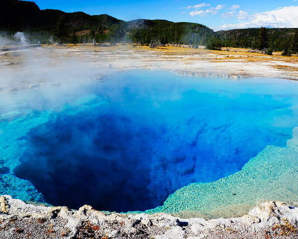 Heat Poster featuring the photograph Sapphire Pool,yellowstone National by Wizard8492