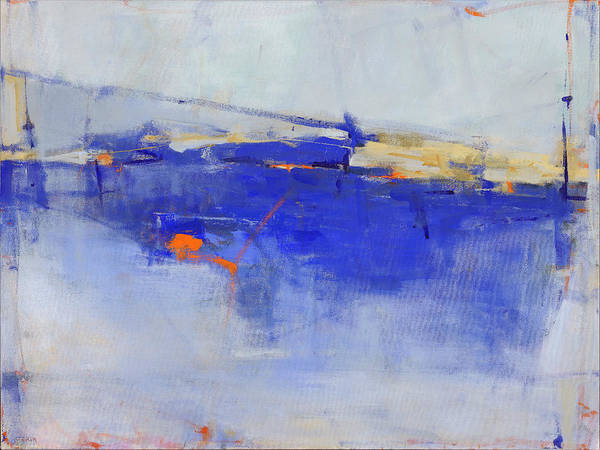 Abstract Poster featuring the painting She Will Walk on Water by Jacquie Gouveia