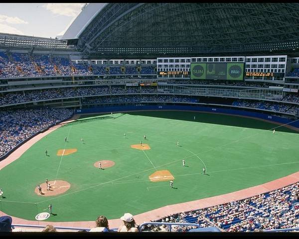 1980-1989 Poster featuring the photograph Skydome Blue Jays by Rick Stewart
