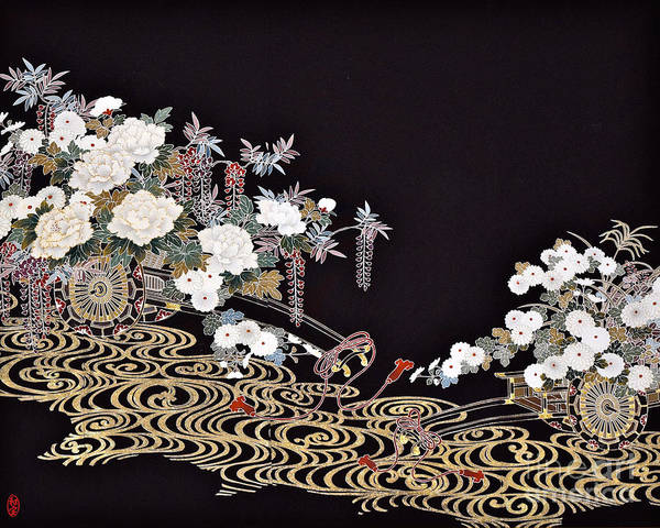 Poster featuring the digital art Spirit of Japan T40 by Miho Kanamori
