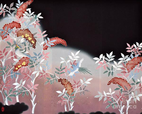 Poster featuring the digital art Spirit of Japan T47 by Miho Kanamori