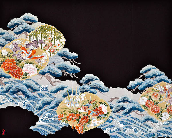 Poster featuring the digital art Spirit of Japan T6 by Miho Kanamori