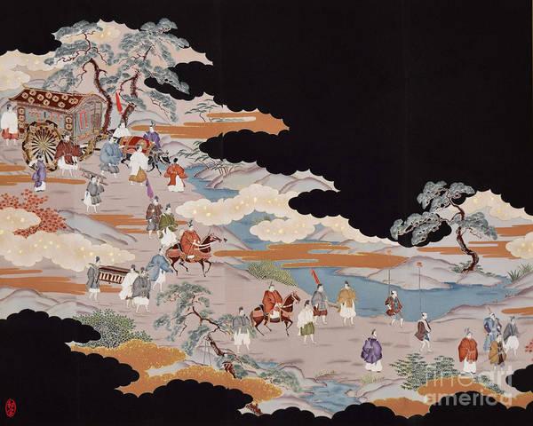 Poster featuring the digital art Spirit of Japan T85 by Miho Kanamori