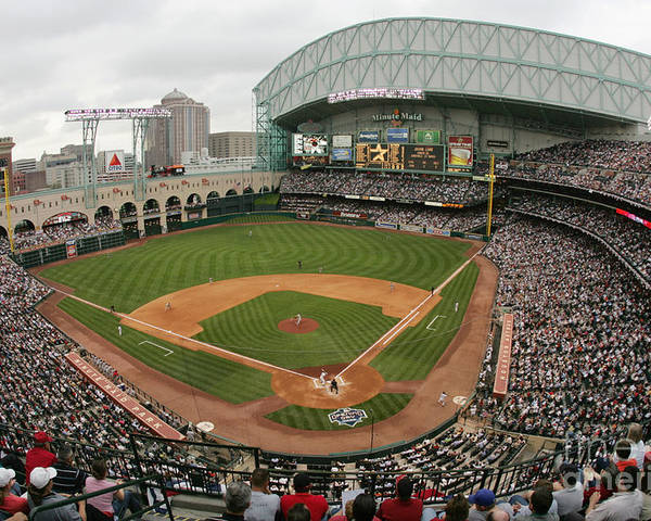 Minute Maid Park Poster featuring the photograph St. Louis Cardinals V Houston Astros by Ronald Martinez