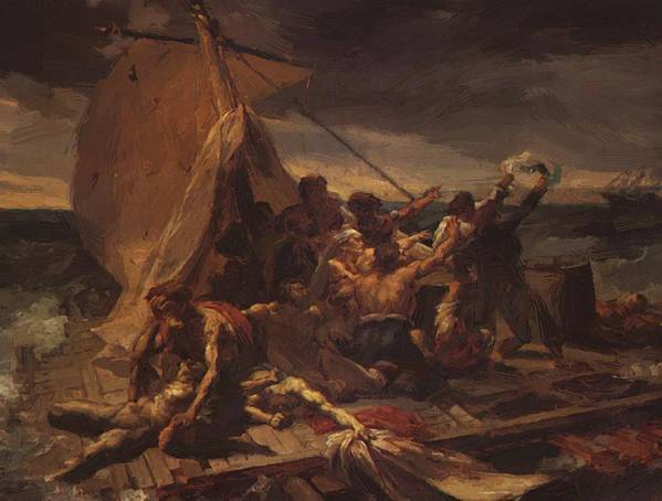 Study Poster featuring the painting Study For The Raft Of The Medusa by Gericault Theodore
