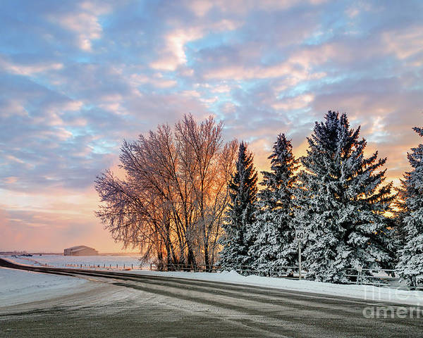 Winter Poster featuring the photograph Sunset In Winter by Viktor Birkus