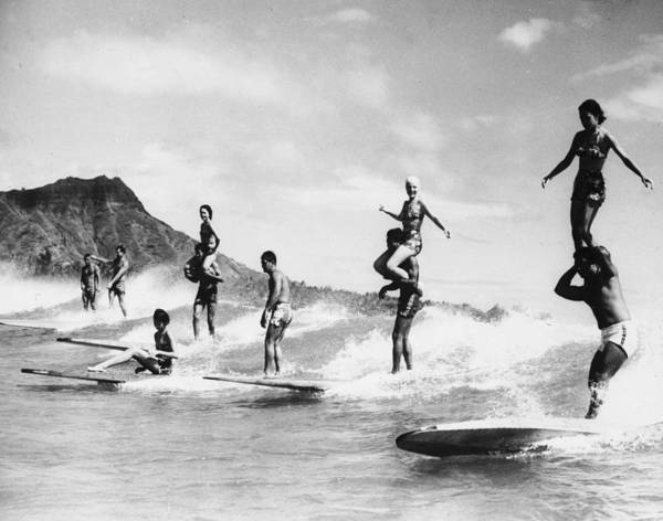 Recreational Pursuit Poster featuring the photograph Surf Stunts by Keystone